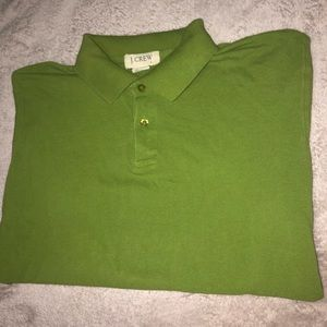 Green J.Crew Short Sleeve Polo